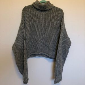 Anthropologie Moth Oversized Crop Sweater.